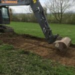 the digger on site