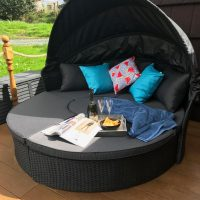 hedgerow luxury glamping day bed